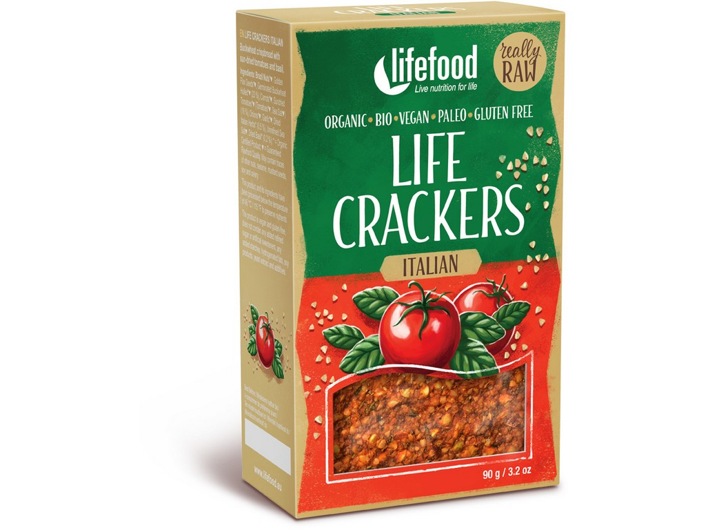 Lifefood Bio Life crackers Italské RAW 90 g